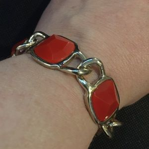 ❤️3/15 Red and gold Banana Republic bracelet